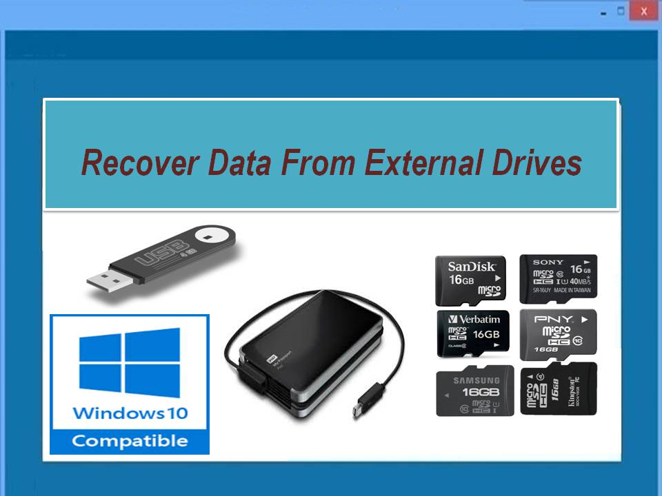 Recover data from various external drives